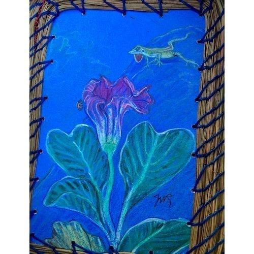 199 - Anole, Lady Bug & Flower Base - 6